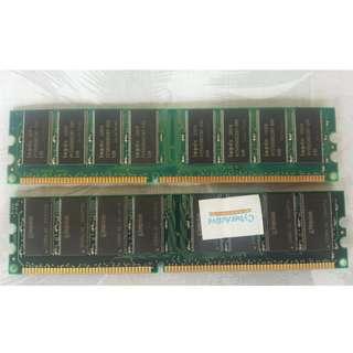 Kingston ValueRAM 2x512 MB 333MHz PC2700 DDR DIMM Desktop Memory