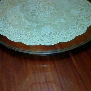 Narra Dinng Table With Lazy Susan