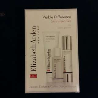 BRAND NEW Elizabeth Arden - Visible Difference Skin Essentials (Oily Skin) - Cleanser & Toner & Lotion