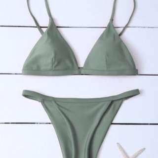 Greyish Green Bikini