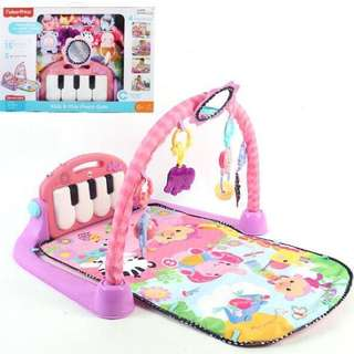 限時優惠 Fisher Price Kick and Piano Play 嬰兒健身踢踢琴遊戲墊 - Pink 粉紅色