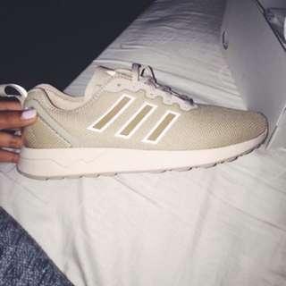 Custom Made Tan Adidas Shoes