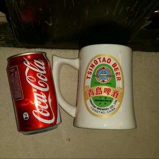 1997 回歸紀念青島啤酒杯,全新但有放置過痕跡,屯門交收,beer mug, trade in tuen mun, 順丰到付
