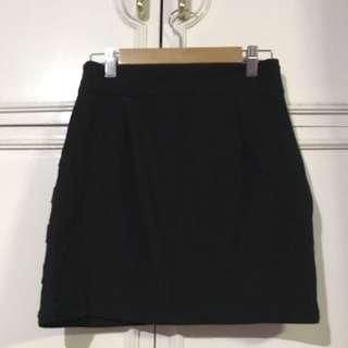 Black Fit Mini Skirt