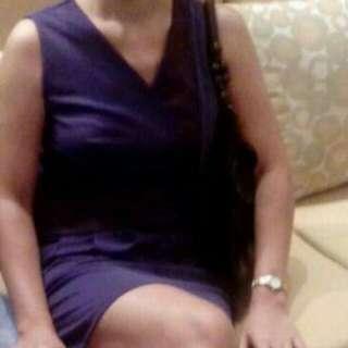 Women Cinderella Sleeveless Cocktail dress - Blue with purple accent