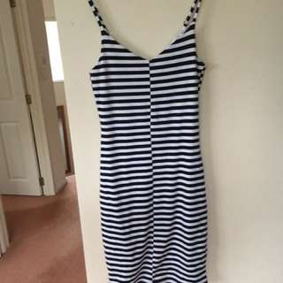 Mid Length Striped Dress