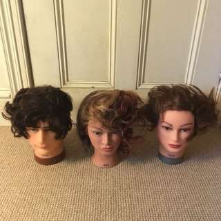 real hair training head