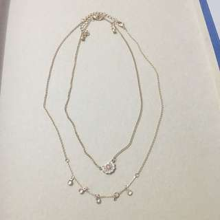 Sweet Pink Gold Necklace