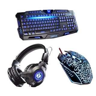 USB LED Gaming m200 Keyboard, Mouse, and LED G600 Headset Bundle  (COD)