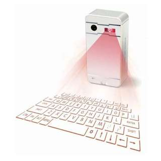 Bluetooth Laser Projection Virtual Keyboard for Phone PC Tablet Laptop WH - intl  (COD)