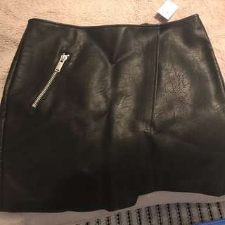 DOTTI - Faux Leather Mini Skirt