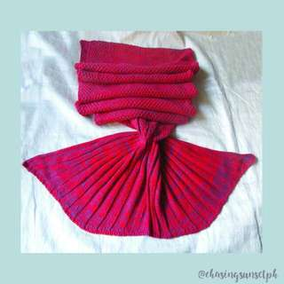 MERMAID TAIL BLANKET - Red
