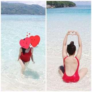 ✨✨Red Scoopback One Piece (w/ FREE bikini top!) ✨✨