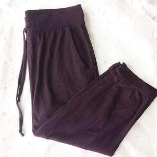 H&M Maroon Jogger Pants