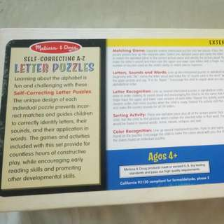 Melissa and Doug Self Correcting Letters A-Z