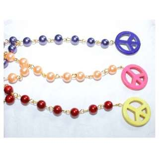 Peace Rosary Necklace