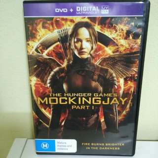 The Hunger Games Mocking jay Part 1 DVD
