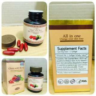 Gluta All in One Gluta Berry Thailand Pemutih dan Pencerah Kulit