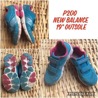 pre-loved new balance rubber shoes for girls kids children not not nike adidas puma