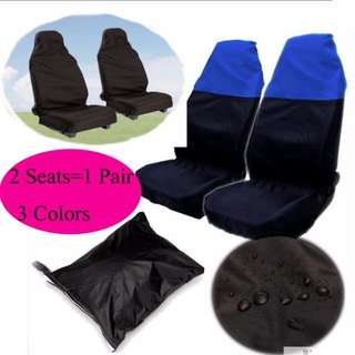 HKA0180 - New 2pcs Universal Car Seat Cover Waterproof Front Seat Cover Protector Nylon