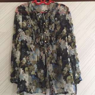 🚚 🇯🇵日製絹材質花花襯衫