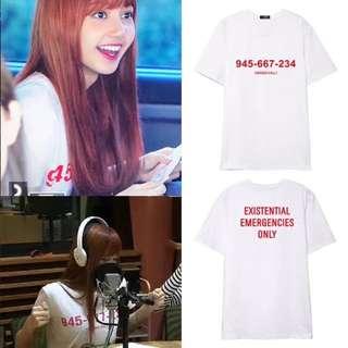 Po Blackpink Lisa Phone Number Tshirt