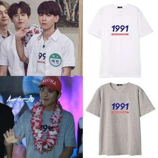 Po Exo Chanyeol & CNBlue Yonghwa 1991 Tshirt