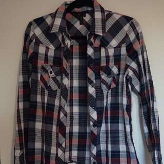 Plaid Topshop shirt