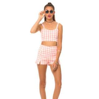Motel Two Piece Gingham Set