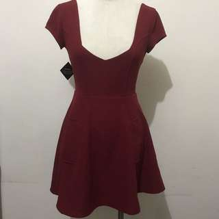 ASOS Style - Nasty gal Red Sweetheart Neckline Dress