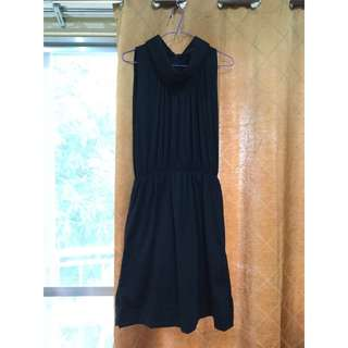Memo Black Turtleneck Dress