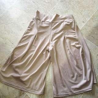 cream cullotes pants