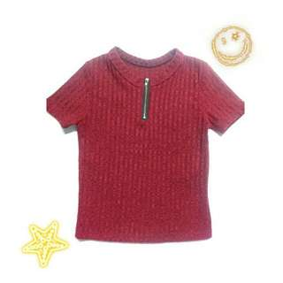 Knitted Red Crop Top