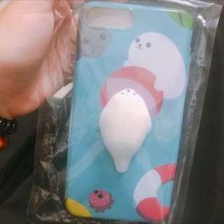 Iphone7 plus軟北極熊舒壓手機殼