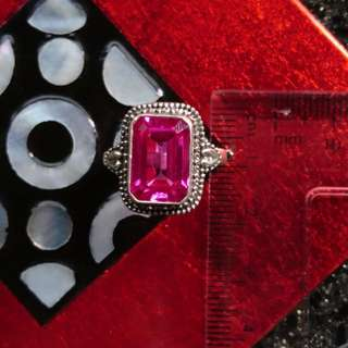 Passionately Ruby (5CT) Silver Ring Size 8
