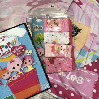 LALALOOPSY Single Bed Doona Set With Size 2-3 & DVD In Perfect Cond!