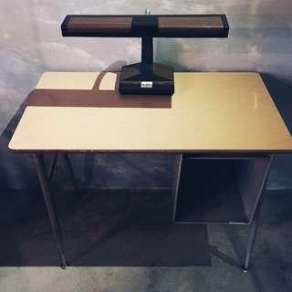 美國70s學生桌椅/可升降/工業風/復古