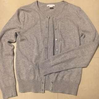 全新H&M淺灰針織外套
