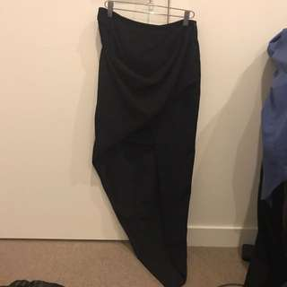 SEDUCE size 6 Long Short Black Skirt