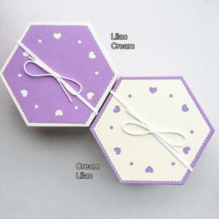 Gift Box 3in1 Hexagon Japanese style
