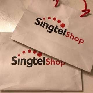 Singtel Paper Bag