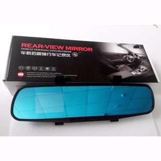 "Cheap 4.0"" Night Vision Rear View Mirror dash camera (Front & back video recording)"
