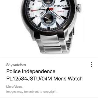 Police Watch For Sale Model Number In Pic
