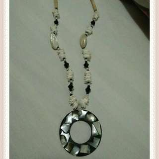 Necklace made of shells and beads