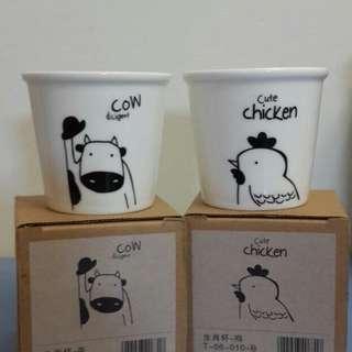 🚚 雞與牛小水杯一組