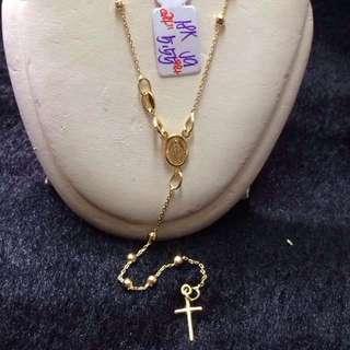 18k Gold Rosary