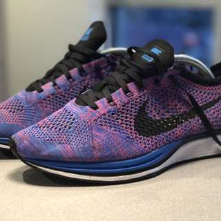 Nike Flyknit Racer Blue Violet Indigo US 9.5