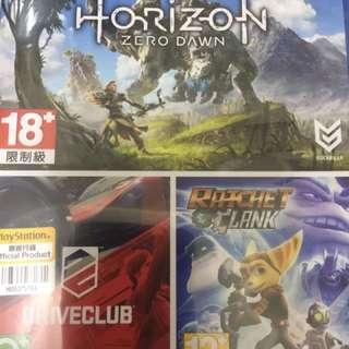 PS4 Horizon / Drive club / Ratchet & Clank 三合一 3合一 3合1 3in1