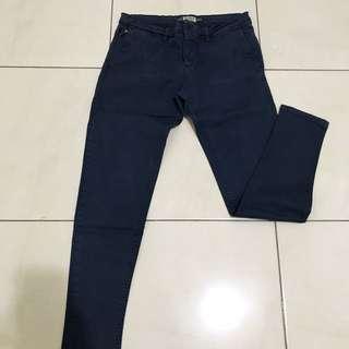 Pull & Bear Navy blue casual pants
