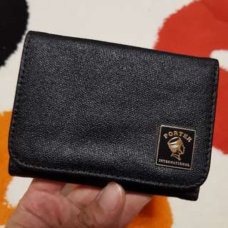 Authentic Porter International Mori Black Wallet